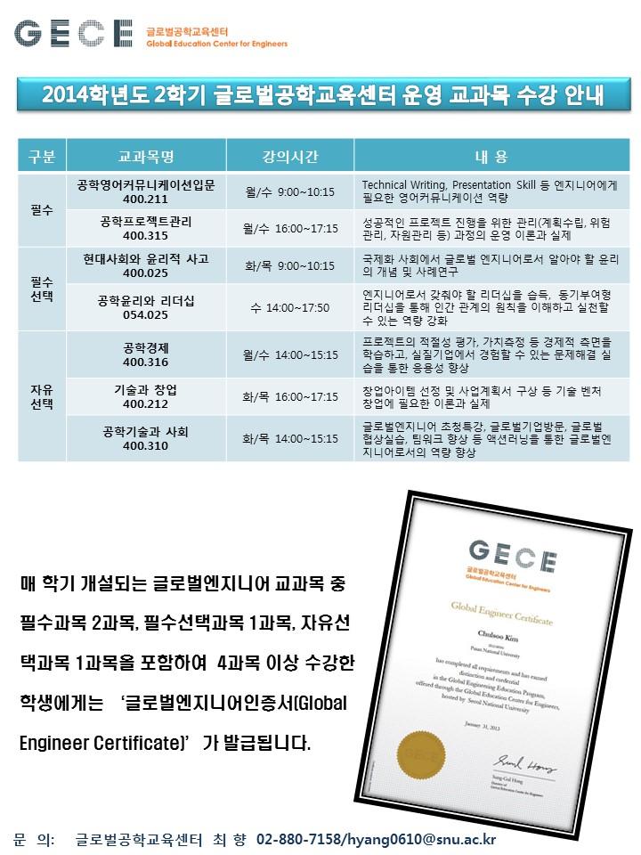 2014글로벌공학교육센터 운영 교과목 수강 안내.jpg